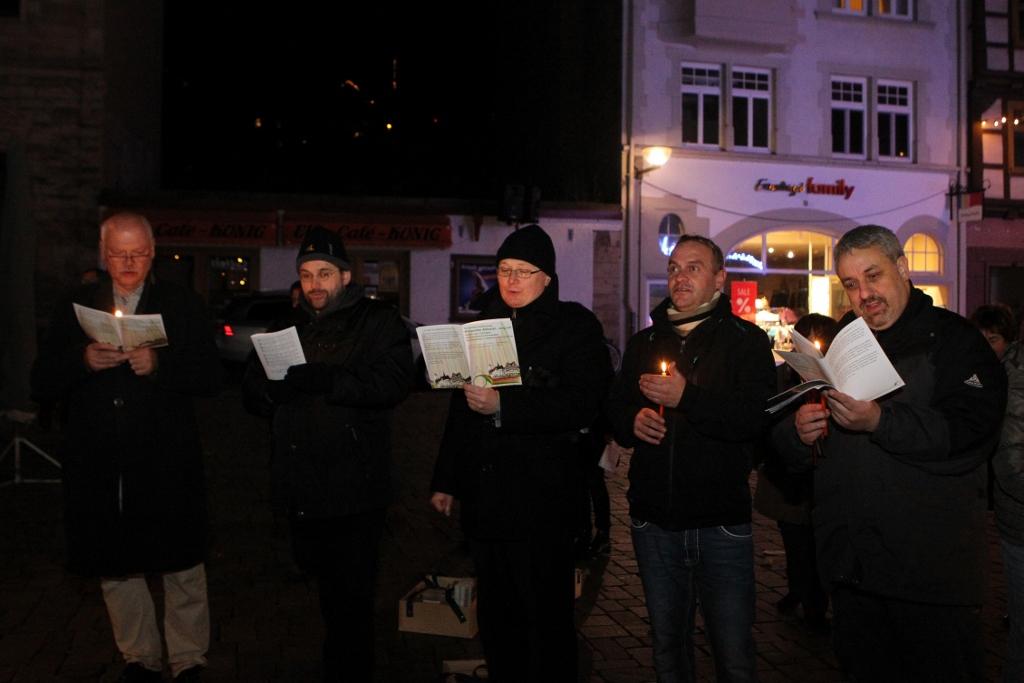 08.12.2016, xkvx, Lokal, Europaeischer Stationenweg in Schmalkalden, Aktionstag, v.l.