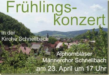 Frühlingskonzert Schnellbach 2017