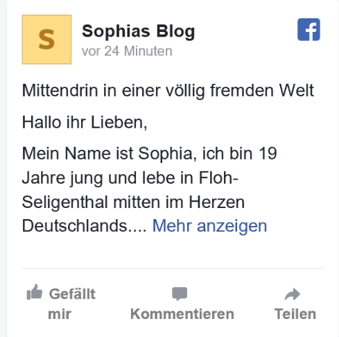 Sophias Blog