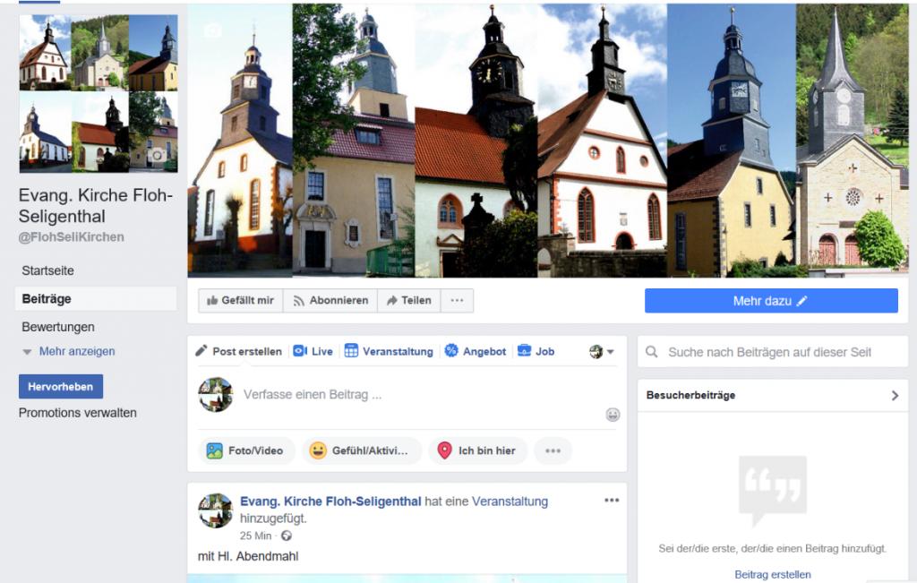 Facebookseite Webseite Gemeinden